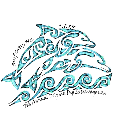 13th Annual Dolphin Dip Logo by Haley Gragg
