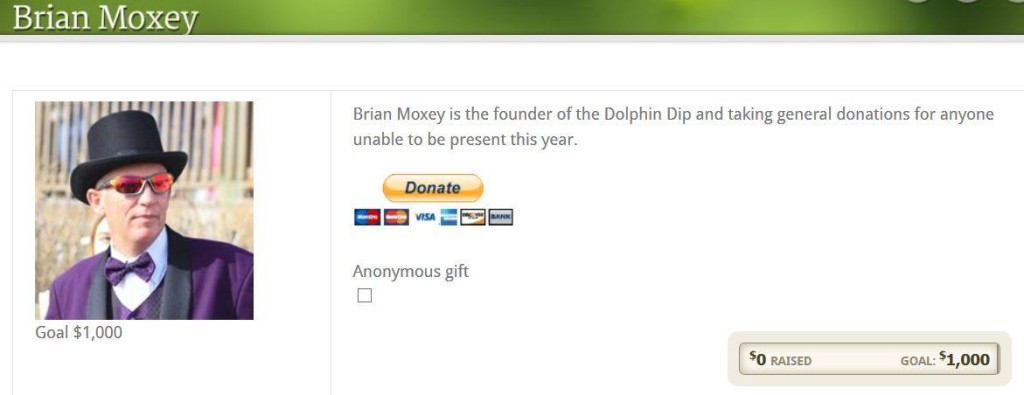 Brian Moxey Donate to Dolphin Dip