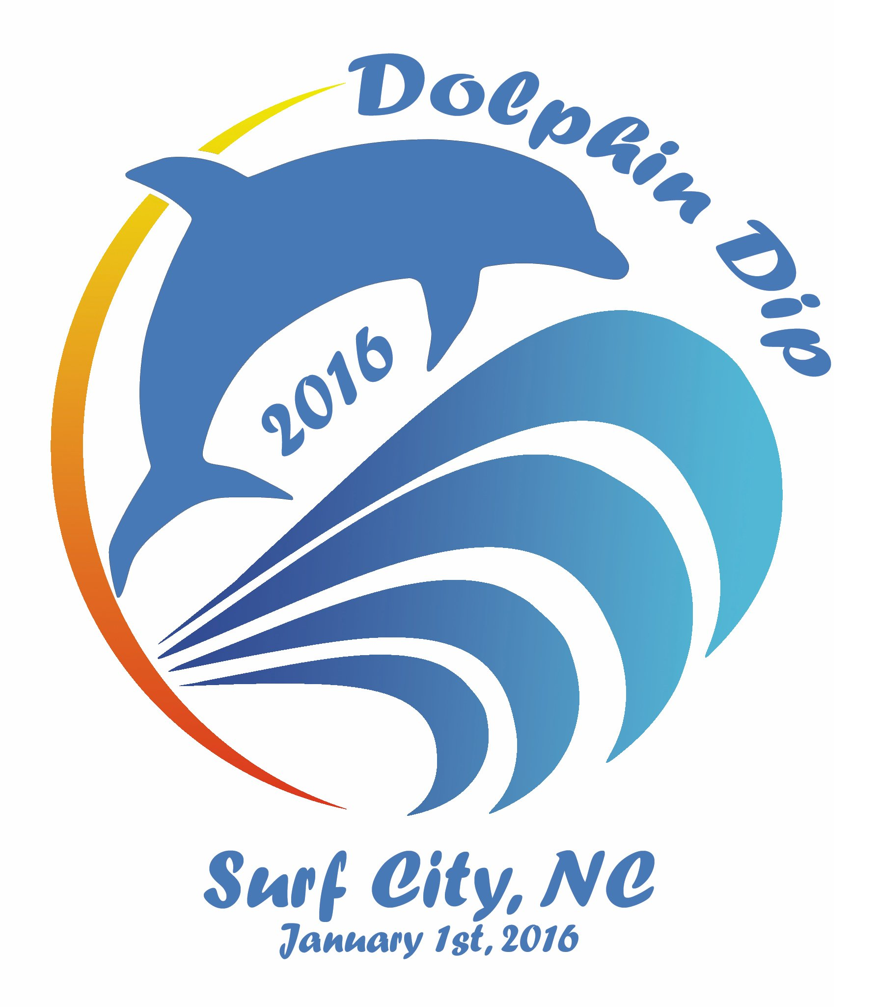 14th Annual Dolphin Dip Logo by Jacob Longbine